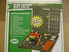 CHAINSAW TOOL KIT FITS MOST CHAINSAWS FILES WEDGE VISE SCRENCH GUIDE MORE
