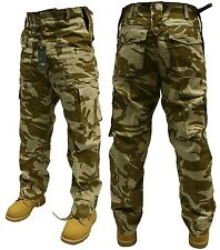 MENS ARMY COMBAT TROUSERS DESERT CAMO 40'' FREE POSTAGE