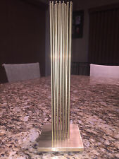 AMAZING ABSTRACT BRASS SOUND SCULPTURE JERE BERTOIA STYLE RODS BRONZE VINTAGE