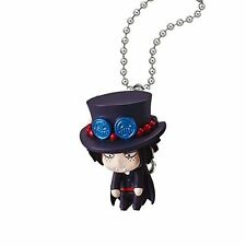 One Piece Swing Mascot PVC Keychain SD Portgas D. Ace Halloween Figure @97006