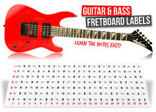 Guitar Fretboard Note Labels Stickers learn fret notes!
