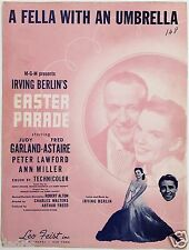 "1947 JUDY GARLAND ""EASTER PARADE"" MOVIE SHEET MUSIC ""FELLA WITH AN UMBRELLA"""