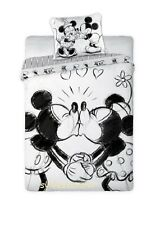 Disney MINNIE MICKEY Mouse mono 01 Single Bed Duvet Cover Set 100% COTTON
