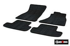 High Quality Black Rubber Tailored Car Mats - Audi A4 B8/8K (2008-2015) + Clips