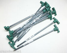 New (50) Tent Stakes Pegs Heavy Duty Steel Metal Camping Tarp Long