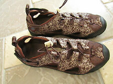 LANDS' END CASUAL SHOES WOMENS 9.5 BROWN NO LACE HIKING TRAIL SHOES