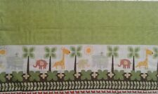 Nursery cute animals elephant and giraffe border with green Valance