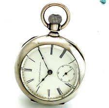 Antique 7-Jewel 18-Size Coin Silver Case Elgin Pocket Watch CA1885