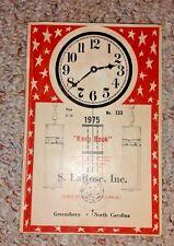 Vintage Book 1975 KEEP BOOK S LaROSE CLOCK MOVEMENTS & SUPPLIES Greensboro NC
