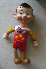 """RARE 1939 Ideal Toy Wood Composition Disney Pinocchio Doll Toy 11"""" Tall"""