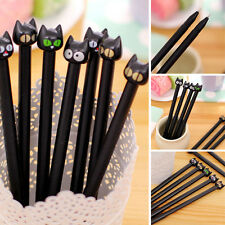 5 pcs Cute Ball Point Pen Ballpoint Black Cat Creative Stationery Student Pen