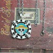 """One Piece The Straw Hat Pirates Logo 2"""" Metal Pendant Necklace Chain Loose Pack"""