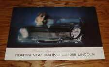 1958 Lincoln Continental Mark III FL Sales Brochure 58 Premier Capri