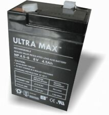 ULTRAMAX RECHARGEABLE 6 VOLT 4.5AH BATTERY ELECTRIC TOY CAR INJUSA TORCH PEREGO