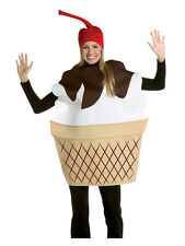 Adult Ice Cream Sundae Funny Novelty Summer Fancy Dress Food Costume & Hat New