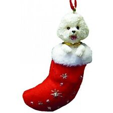 Bichon Frise Santa's Little Pals Dog Christmas Ornament
