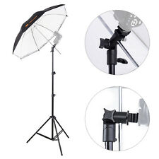"Photography Light Stand + E-Shape Swivel Flash Holder + 33"" Reflective Umbrella"