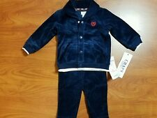 NEW CHAPS RALPH LAUREN BABY BOYS 2 PIECE NAVY BLUE OUTFIT SIZE 6 MONTHS