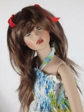 """BEAUTIFUL BRUNETTE DOLL WIG SIZE 5/6"""" FITS VINTAGE AND MODERN DOLLS"""