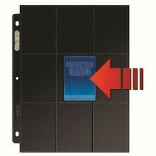 1 Box 50 Ultra Pro 18 Pocket Pages Side Load Card Storage with Black Background