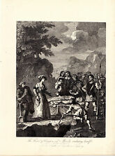 """SET OF SIX HOGARTH ILLUSTRATIONS FOR """"DON QUIXOTE"""" -  LATE COPPERPLATES (c1870)"""
