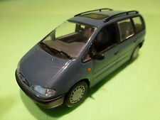 MINICHAMPS FORD GALAXY 1995 - BLUE 1:43 - RARE SELTEN - GOOD CONDITION