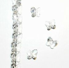 SCU111f CRYSTAL CLEAR Genuine Swarovski 6mm Faceted Butterfly (5754) Bead 12/pkg