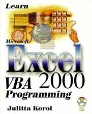 Learn Microsoft Excel VBA 2000 Programming with CDROM