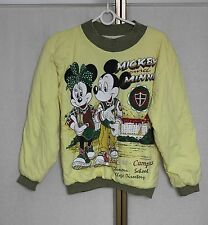 Vintage 90s Mickey & Minnie Mouse Thick Padded Winter Sweatshirt Jumper Yth or S