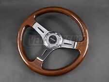 NRG 330mm Classic Wood Grain Steering Wheel Chrome Center