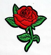 Red Rose Flower Lady Tattoo Motocycle Bike Harley DIY Embroided IRON ON PATCH