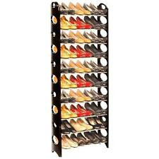 10 TIER SHELF SHOE RACK ORGANIZER STAND CUPBOARD FOR 30 PAIR SHOES EASY ASSEMBLE
