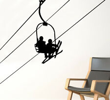 Ski Lift Wall Decal Downhill Skiing Vinyl Sticker Removable Home Art Decor 87nse