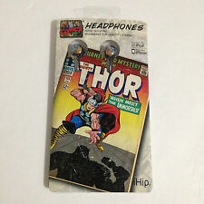 NEW iHIP THOR MARVEL COMICS NOISE ISOLATING IPOD HEADPHONES EARPHONES EAR BUDS