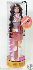 2004 FASHION FEVER BARBIE TERESA WHITE BOOTS CHERRY PRINT SHIRT NRFP