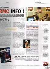 Publicité advertising 2001 Radio RMC Info