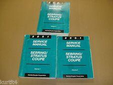 2001 Chrysler Sebring Dodge Stratus coupe service shop dealer repair manual