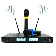 Professional UHF Wireless 2x100 Channel Wireless Hand Held Microphone system US