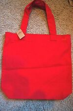 NWT Hollister Solid Red Tote Bag Purse Retails for $29.50 Free Shipping