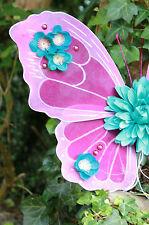 DAISY BRIDAL WEDDING FLOWER BUTTERFLY FAIRY FAIRIES FESTIVAL WINGS PURPLE BLUE