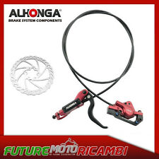 ALHONGA KIT PINZA DISCO IDRAULICO BICI HYDRAULIC BIKE DISC SET BMX MTB DOWNHILL