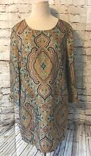 J Crew Collection JULES Shift Dress Size 8 Silk Italian Paisley Lined Festival