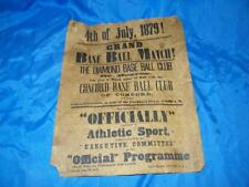 JULY 4 1879 POSTER GRAND BASE BALL MATCH CONCORD THE DIAMOND REPRODUCTION