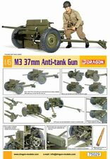 "Dragon 1/6 Scale 12"" WWII US M3 37mm Anti-Tank Gun Model Kit 75029"