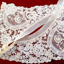 BEAUTIFUL ANTIQUE  WHITE LACE DRESS COLLAR