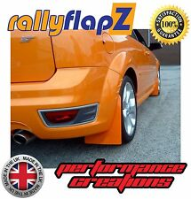rallyflapZ FORD FOCUS ST Mk2 ST225 (04-11) Mudflaps Electric Orange Polyurethane