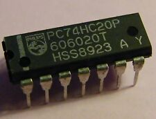 10x PC74HC20P Dual 4-input NAND-Gate, Philips