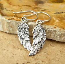 Angel Wing 925 Sterling Silver Drop Earrings Jewellery
