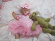 SUNBEAMBABIES FAST DELIVERY CHILD SAFE REBORN FAKE BABY GIRL, REAL NEWBORN DOLL