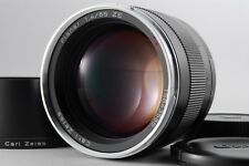 【AB- Exc】 Carl Zeiss Planar T* 85mm f/1.4 ZE MF Lens for Canon EF w/Hood #2335